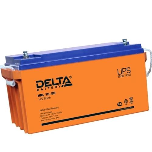 Аккумулятор 12V 80Ah Delta HRL 12-80