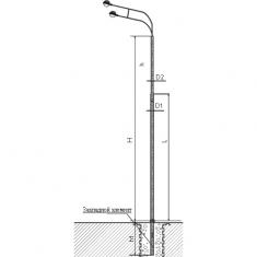 Опора СФ-/400/700/-/8,5/9,0/11,0/-01-ц/-02-ц силовая фланцевая трубчатая