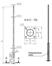 Опора ОП1(Ф)-/3.2/3.5/4.0/4.5/5.0/-/0.8/1.0/1.5/ парковая фланцевая