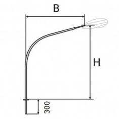 Кронштейн К2-/1,0/1,3/1,5/2,0/2,5/-/1,0/1,5/1,7/2,0/2,5/-1-1 однорожковый