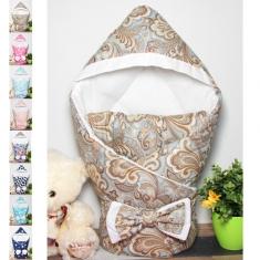 Конверт-одеяло с капюшоном на выписку ВЕСНА-ОСЕНЬ