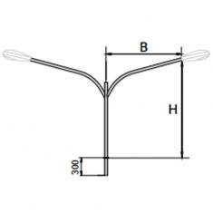 Кронштейн К4-/1,0/1,3/1,5/2,0/2,5/-/1,0/1,5/1,7/2,0/2,5/-1-1 двухрожковый