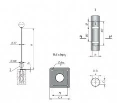 Опора ОТФ-/1,5/2,0/2,5/3,0/3,2/3,5/4,0/-108-57 трубчатая фланцевая