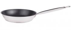 Сковорода 24 см из нержавеющей стали для индукционных плит (без крышки)