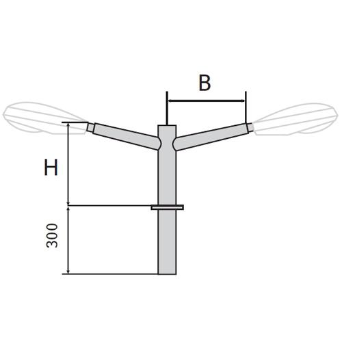 Кронштейн (К21) двухрожковый для установки консольных светильников