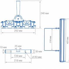 TL-PROM 200х2 PR Plus FL 5K Прожектор светодиодный уличный