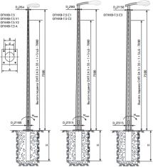 Опора квартальная ОГККВ-7.5-/У1/У2/А/С1/С2/С3/ для воздушной подводки питания